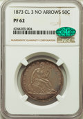 Proof Seated Half Dollars, 1873 50C No Arrows, Closed 3, PR62 NGC. CAC. NGC Census: (28/98). PCGS Population: (43/121). CDN: $775 Whsle. Bid for probl...