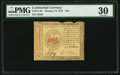 Colonial Notes:Continental Congress Issues, Continental Currency January 14, 1779 $35 PMG Very Fine 30.. ...
