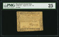 Colonial Notes:Maryland, Maryland August 14, 1776 $6 PMG Very Fine 25.. ...