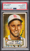 Autographs:Sports Cards, Signed 1952 Topps #143 Les Moss PSA/DNA Auto Grade Gem MT 10.. ...
