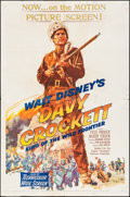 "Movie Posters:Western, Davy Crockett, King of the Wild Frontier (Buena Vista, 1955). Folded, Fine. One Sheet (27"" X 41""). Western.. ..."