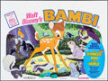 "Movie Posters:Animation, Bambi/Strongest Man in the World (Walt Disney, R-1975). BritishQuad (30"" X 40""). Animation.. ..."