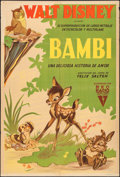 "Movie Posters:Animation, Bambi (RKO, 1942). Argentinean One Sheet (29"" X 43""). Animation....."