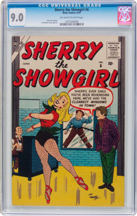 Sherry the Showgirl #6 (Atlas, 1957) CGC VF/NM 9.0 Off-white to white pages