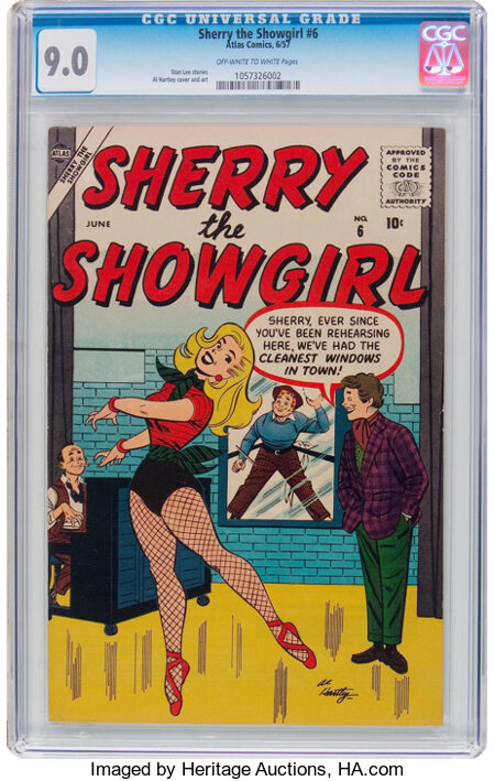 Sherry the Showgirl #6 (Atlas, 1957) CGC VF/NM 9.0 Off-white to white pages....