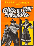 "Movie Posters:Comedy, Pack Up Your Troubles & Other Lot (R-1960s). Indian One Sheets (2) (30"" X 40""). Comedy.. ... (Total: 2 Items)"