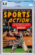Golden Age (1938-1955):Miscellaneous, Sports Action #14 (Atlas, 1952) CGC VF 8.0 Off-white to white pages....