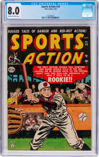 Sports Action #14 (Atlas, 1952) CGC VF 8.0 Off-white to white pages