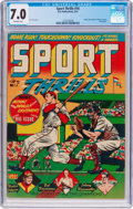 Golden Age (1938-1955):Miscellaneous, Sport Thrills #14 (Star Publications, 1951) CGC FN/VF 7.0 Off-white pages....
