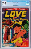 Golden Age (1938-1955):Romance, Top Love Stories #12 (Star Publications, 1953) CGC FN/VF 7.0 Creamto off-white pages....