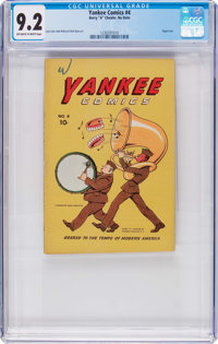 Yankee Comics #4 (digest size) (Chesler, no date -1940s) CGC NM- 9.2 Off-white to white pages