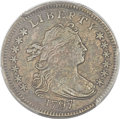 Early Dimes, 1797 10C 13 Stars, JR-2, R.4 -- Cleaned -- PCGS Genuine. AUDetails....