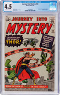 Silver Age (1956-1969):Superhero, Journey Into Mystery #83 (Marvel, 1962) CGC VG+ 4.5 Off-white towhite pages....