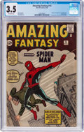 Silver Age (1956-1969):Superhero, Amazing Fantasy #15 (Marvel, 1962) CGC VG- 3.5 Off-white pages....