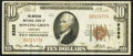 National Bank Notes:Kentucky, Bowling Green, KY - $10 1929 Ty. 1 The American NB Ch. # 9365. ...