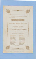 Political:Small Paper (pre-1896), Henry Clay: Lovely Engraved 1844 Ball Invitation....