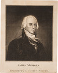 Political:Small Paper (pre-1896), James Madison: Period Presidential Engraving....