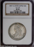 Bust Half Dollars: , 1807 50C Capped Bust, Large Stars XF45 NGC. O-114, R.3. A pair ofdie lumps (as produced) below the 7 in the date identify ...