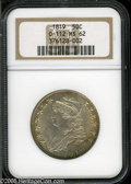 Bust Half Dollars: , 1819 50C MS62 NGC. O-112, R.3. The variety is confirmed by the TEin STATES being joined at the top. Honey-gold colors hug ...