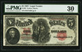 Large Size:Legal Tender Notes, Fr. 88 $5 1907 Legal Tender PMG Very Fine 30.. ...