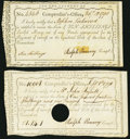 Colonial Notes:Connecticut, Connecticut Interest Certificates Two Examples, . ... (Total: 2 notes)