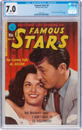 Golden Age (1938-1955):Miscellaneous, Famous Stars #4 (Ziff-Davis, 1951) CGC FN/VF 7.0 Off-white pages....