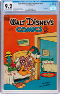Golden Age (1938-1955):Cartoon Character, Walt Disney's Comics and Stories #112 (Dell, 1950) CGC NM- 9.2Off-white to white pages....
