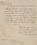 Autographs:Statesmen, DeWitt Clinton: 1805 Official City of New York Document Appointinga Fireman, Signed by Him as Mayor. ...