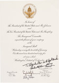 Autographs:U.S. Presidents, Lyndon B. Johnson: An Official Inaugural Ball Invitation A...