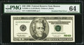 Error Notes:Inking Errors, Double Printing of Treasury Seal Error Fr. 2083-A $20 1996 Federal Reserve Note. PMG Choice Uncirculated 64.. ...