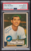 Autographs:Sports Cards, Signed 1952 Topps #112 Henry Majeski PSA/DNA Auto Grade Mint 9. ...