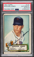 Autographs:Sports Cards, Signed 1952 Topps #130 Sheldon Jones PSA/DNA Auto Grade Mint 9. ...