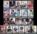 Autographs:Sports Cards, 1990 Pro Set Super Bowl MVP's Signed Football Card Collection (21)- Montana (2), Bradshaw, Starr (2) and More!. ...