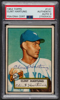 Autographs:Sports Cards, Signed 1952 Topps #141 Clint Hartung PSA/DNA Auto Grade Mint 9.....