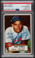 Autographs:Sports Cards, Signed 1952 Topps #161 Bud Byerly PSA/DNA Auto Grade Mint 9.. ...