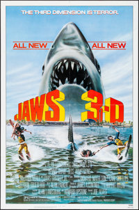 """Jaws 3-D & Other Lot (Universal, 1983). One Sheets (2) (27"""" X 41""""). Thriller. ... (Total: 2 Items)"""