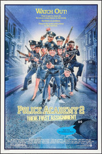 "Police Academy 2: Their First Assignment & Others Lot (Warner Brothers, 1985). One Sheets (3) (27"" X 40 & 2..."