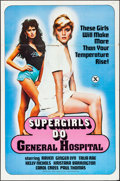 "Movie Posters:Adult, Supergirls Do General Hospital & Other Lot (Nibo, 1985). One Sheets (2) (27"" X 41"" & 25"" X 38"") & Uncut Pressbook (6 Pages, ... (Total: 3 Items)"