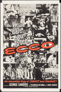 """Ecco (Cresa-Roma, 1965). One Sheets (2) (27"""" X 41"""") Styles A & B. Documentary. ... (Total: 2 Items)"""