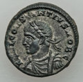 Ancients:Ancient Lots , Ancients: ANCIENT LOTS. Roman Imperial. Lot of four (4) ConstantineEra (AD 307-337) campgate AE3s. XF-AU.... (Total: 4 coins)