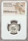 Ancients:Ancient Lots  , Ancients: ANCIENT LOTS. Roman Imperial. Gordian III (AD 238-244).Lot of two (2) AR antoniniani. NGC AU-Choice AU.... (Total: 2coins)