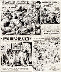 """Wally Wood MAD Magazine #41 Complete 1-Page Story """"Strangely Believe It!"""" Original Art (EC, 1958)"""