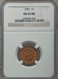 Indian Cents: , 1895 1C MS63 Red and Brown NGC. NGC Census: (76/291). PCGS Population: (159/352). MS63. Mintage 38,343,636. ...