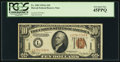 Small Size:World War II Emergency Notes, Fr. 2303 $10 1934A Hawaii Federal Reserve Note. PCGS Extremely Fine45PPQ.. ...