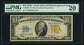 Small Size:World War II Emergency Notes, Fr. 2309* $10 1934A North Africa Silver Certificate Star. PMG VeryFine 20.. ...