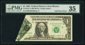 Error Notes:Foldovers, Fold Over Error Fr. 1913-A $1 1985 Federal Reserve Note. PMG ChoiceVery Fine 35.. ...