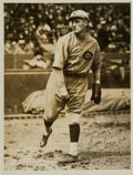 Baseball Collectibles:Photos, 1924 Babe Pinelli Original Signed Photograph by Charles Co...