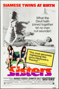 """Movie Posters:Horror, Sisters (American International, 1973). One Sheet (27"""" X 41"""") &Lobby Card Set of 8 (11"""" X 14""""). Horror.. ... (Total: 9 Items)"""
