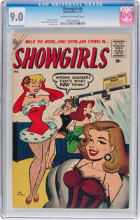 Showgirls #4 (Atlas, 1957) CGC VF/NM 9.0 Off-white to white pages