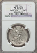 Seated Half Dollars: , 1887 50C -- Improperly Cleaned -- Details NGC. AU. NGC Census: (1/86). PCGS Population: (8/115). CDN: $700 Whsle. Bid for p...